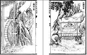 Wang Zhen (inventor) - Water mills in Wang Zhen's Nong Shu, volume 19