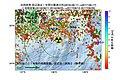 浜岡原子力発電所周辺の過去1年間の地震の震源分布と地殻変動.jpg
