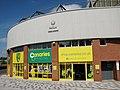 -2018-05-18 Canaries club shop (Norwich City FC), Carrow Road football stadium, Norwich.jpg