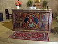 007 Santa Maria de Lluçà, reproducció del frontal d'altar.jpg