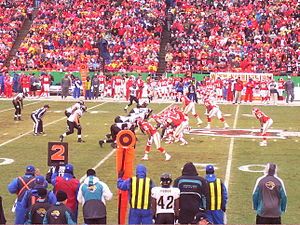 History of Kansas City Chiefs quarterbacks - Trent Green lines up with the Chiefs' offense, 2006.