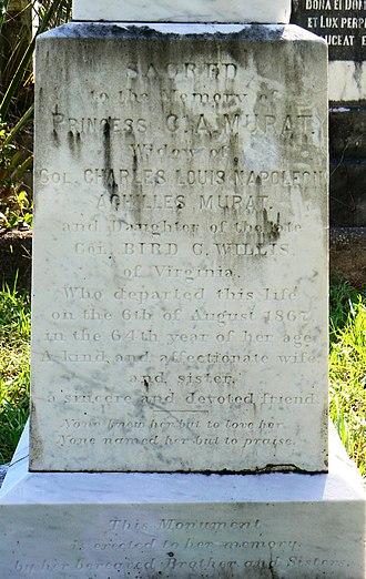 Catherine Willis Gray - Grave Marker of Catherine Murat.