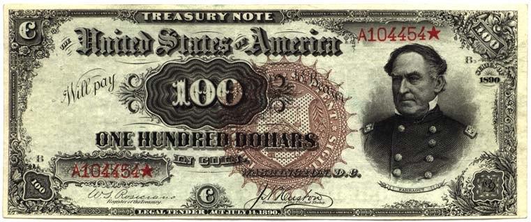 100 USD, 1890 series