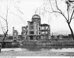 148793 The Hiroshima-Ken Shorei Kan (Prefectural Industry Promotion Building) also known as the Industrial Hall and the Chamber of Commerce, severely damaged by the dropping of the atomic bomb on 1945-08-06.JPG