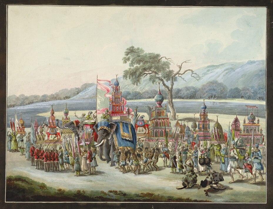 1790-1800 Shia Islam Muharram Tazia images procession to river for immersion