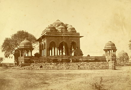 An 1858 photograph by Felice Beato of a mosque in Meerut where some of the rebel soldiers may have prayed 1857 mutineers mosque meerut2.jpg