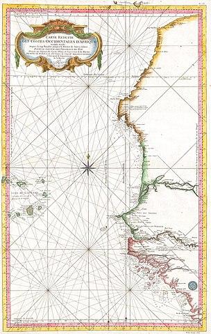 Sea Chart: 1865 Bellin Sea Chart of Western Africa ( Senegal Gambia ,Chart