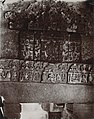 1875 photo with a close view of Hindu reliefs in the ruins used to make the wall of the Quwwat-ul-Islam Mosque, Qutb, Delhi.jpg
