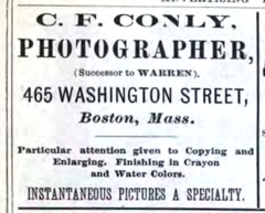 1883 CF Conly photographer advert 465 Washington Street in Boston.png