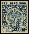1884 5c EU de Colombia Cundinamarca unused Yv12 Mi11I.jpg