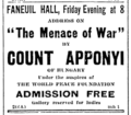 1911 Apponyi FaneuilHall BostonEveningTranscript March2.png