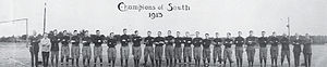 1913 Auburn Tigers football team - Image: 1913 Auburn football team Champions of South