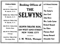 1921 Selwyns NY ad.png