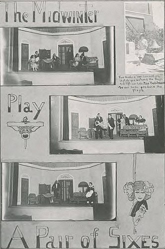 A Pair of Sixes - Scenes from the production of A Pair of Sixes at East Texas State Normal College in 1922