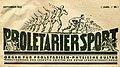 1923-09 Kopf der Zeitschrift Proletariersport. Organg für proletarisch-physische Kultur.jpg