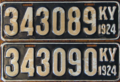 1924 Kentucky consecutive license plates.png