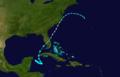 1925 Atlantic hurricane 4 track.png