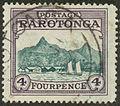 1927 Postage Rarotonga Avarua Harbor & Mt. Ikurangi 4p.jpg