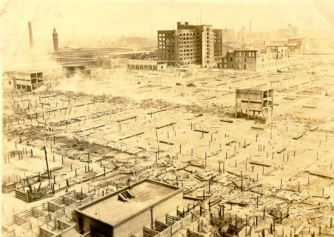 1934 Chicago Union Stock Yard fire aftermath 3