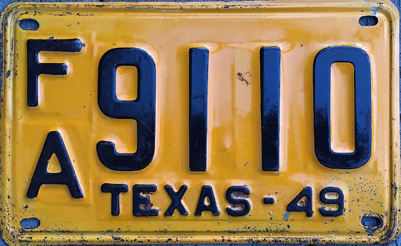 File:1949 Texas license plate.JPG