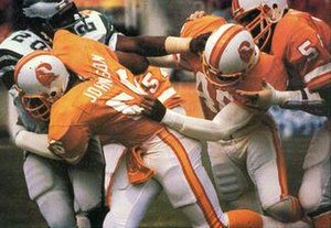 1979–80 NFL playoffs - The Buccaneers stopping an Eagles rushing play during the 1979 NFC Divisional Playoff Game.