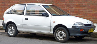 Suzuki Cultus - 1989–1991 Suzuki Swift GA 3-door hatchback (Australia)