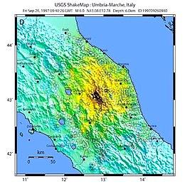Cartina Sismica Italia Wikipedia.Terremoto Di Umbria E Marche Del 1997 Wikipedia