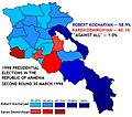 1998 Presidential election in Armenia (second round).jpg