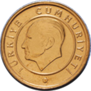 Coins of Turkey - Image: 1kr reverse