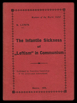 "Executive Committee of the Communist International - Delegates to the 2nd World Congress of the Comintern received a copy of Lenin's new book The Infantile Sickness of ""Leftism"" in Communism, published by ECCI."