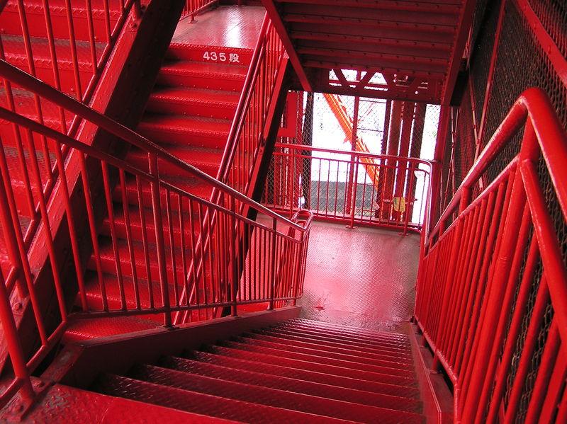 Файл:20040504 4 May 2004 Tokyo Tower stairs 1 Shibakouen Tokyo Japan.jpg