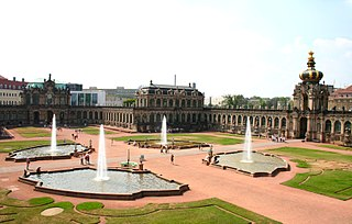 palace in Dresden, eastern Germany