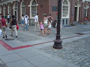 Freedom Trail - Freedom Trail next to Faneuil Hall