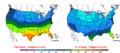 2007-02-27 Color Max-min Temperature Map NOAA.png