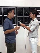 20070821 Ed Lu giving interview for HTV