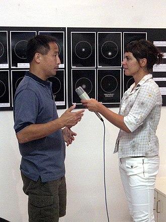 Ed Lu - Image: 20070821 Ed Lu giving interview for HTV