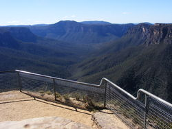 A valley in the Blue Mountains