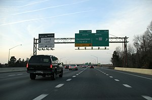 Interstate 270 (Maryland) - I-270 northbound at MD 118 interchange in Germantown in January 2008.