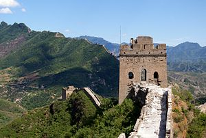 Simatai - A tower along the Simatai stretch of the Great Wall