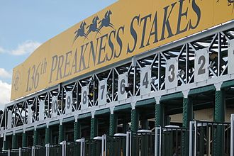 Preakness Stakes - Image: 2011 Preakness Stakes starting gate