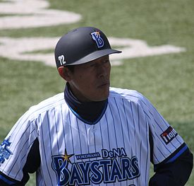20120320 Itaru Ninomiya,coach of the Yokohama DeNA BayStars,at Yokohama Stadium.JPG