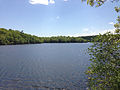 2013-05-12 14 51 31 View southwest across Ramapo Lake in Ramapo Mountain State Forest in New Jersey.jpg