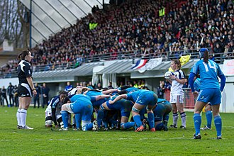 Italy women's national rugby union team - Image: 2014 W6N France vs Italy 5612