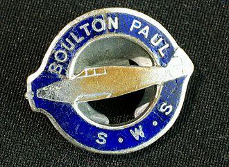 Boulton Paul Aircraft - Badge worn by Boulton Paul staff during World War II