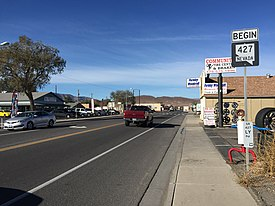 2015-10-30 10 09 36 View west along Main Street (Nevada State Route 427) in Fernley, Nevada.jpg