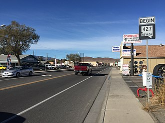 Fernley, Nevada - Main Street in Fernley
