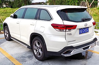 2016 GAC-Toyota Highlander (facelift, rear)