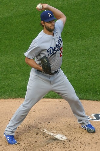 Pickoff - Clayton Kershaw making a pickoff throw to first base for the 2017 Los Angeles Dodgers.