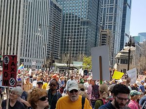 Tax March - Demonstrators in Chicago