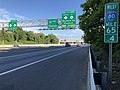 2018-07-21 07 36 25 View west along Interstate 80 (Bergen-Passaic Expressway) just east of Exit 64A (NORTH New Jersey State Route 17 to New Jersey State Route 4, Rochelle Park, Paramus) in Hackensack, Bergen County, New Jersey.jpg